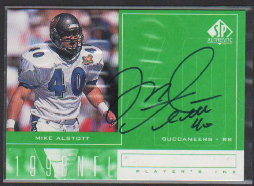 1998 SP Authentic Player's Ink Green #MA Mike Alstott