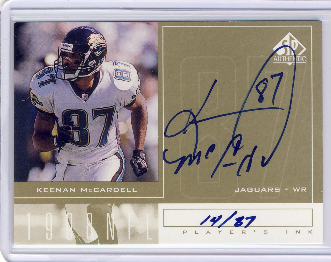 1998 SP Authentic Player's Ink Gold #KM Keenan McCardell/87