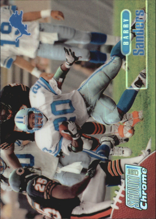 1998 Stadium Club Chrome Refractors #SCC10 Barry Sanders