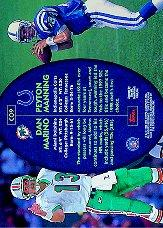 1998 Stadium Club Co-Signers #CO9 Peyton Manning/Dan Marino back image
