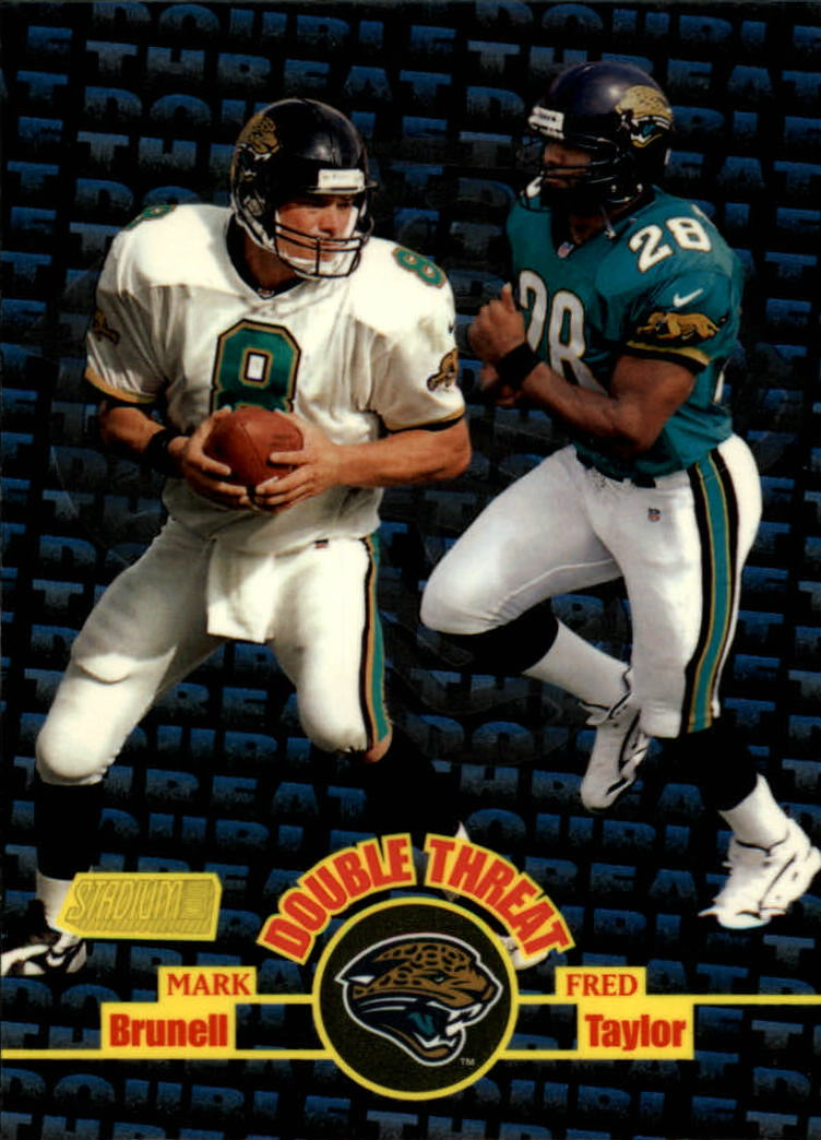 1998 Stadium Club Double Threat #DT6 M.Brunell/F.Taylor