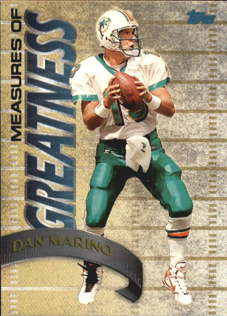 1998 Topps Measures of Greatness #MG13 Dan Marino