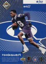 1998 UD Choice Starquest/Rookquest Blue #SR7 J.Rice/R.Moss