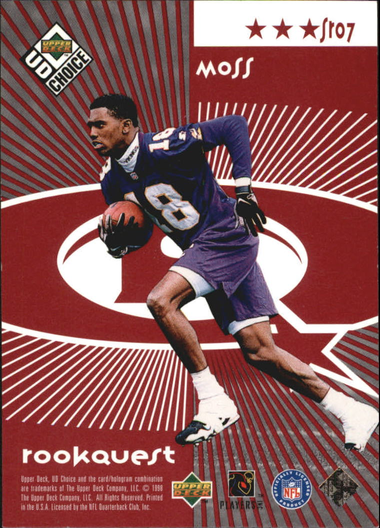 1998 UD Choice Starquest/Rookquest Red #SR7 J.Rice/R.Moss