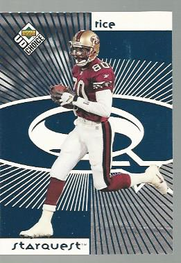1998 UD Choice Starquest #2 Jerry Rice