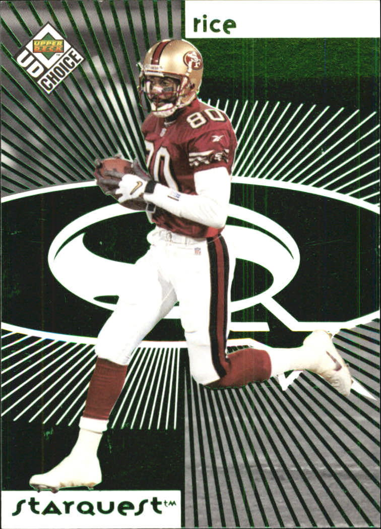 1998 UD Choice Starquest Green #2 Jerry Rice
