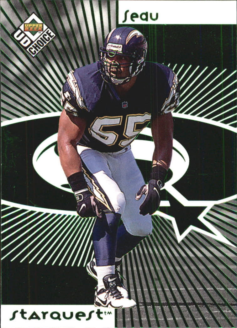 1998 UD Choice Starquest Green #5 Junior Seau