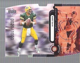 1998 Upper Deck Constant Threat Die Cut Silver #CT4 Brett Favre