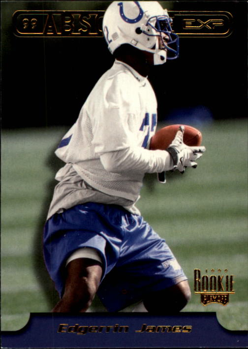1999 Absolute EXP #4 Edgerrin James RC