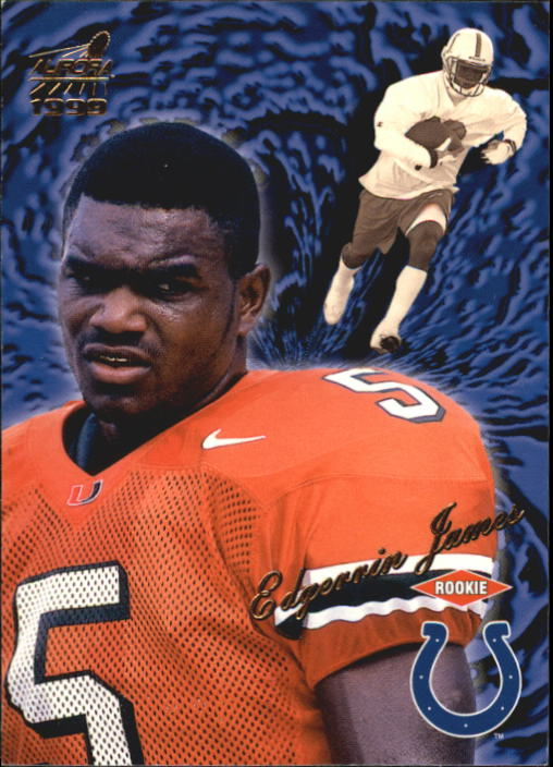 1999 Aurora #62 Edgerrin James RC