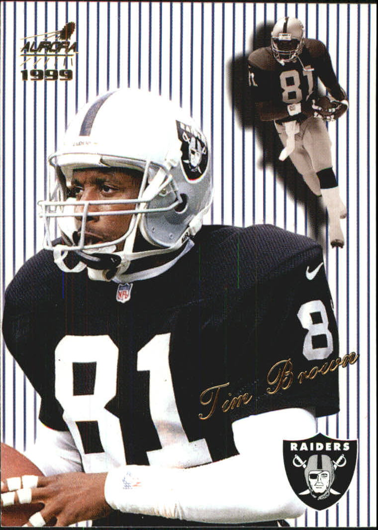 1999 Aurora Pinstripes #104 Tim Brown