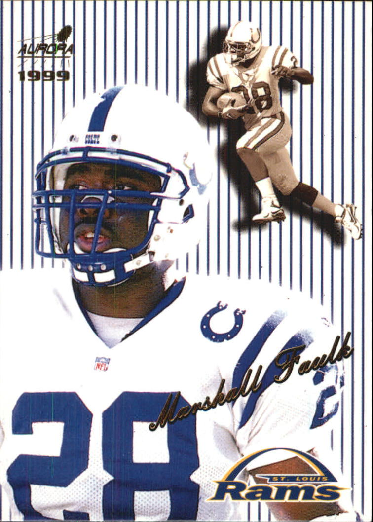 1999 Aurora Pinstripes #119 Marshall Faulk