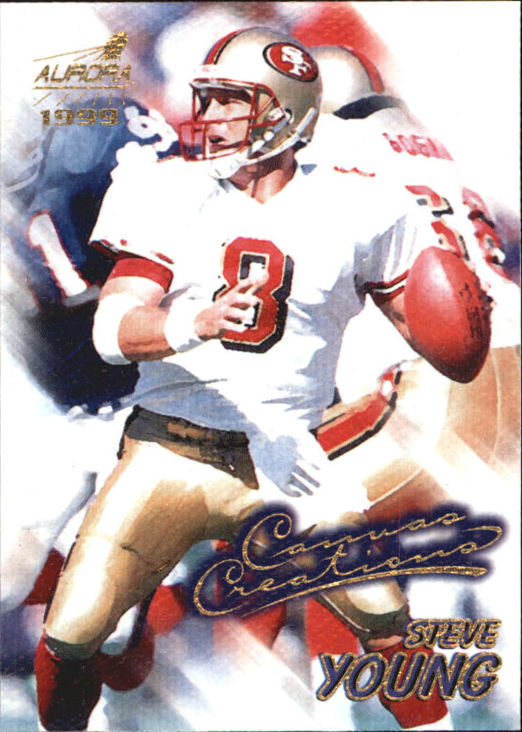 1999 Aurora Canvas Creations #9 Steve Young