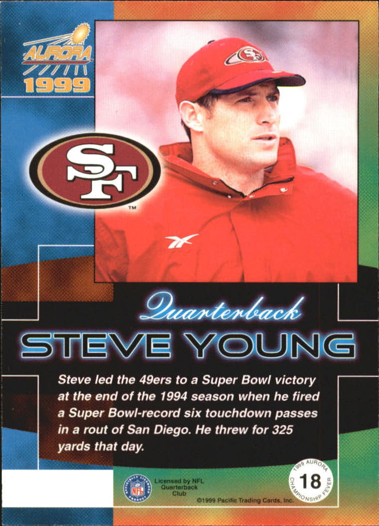 1999 Aurora Championship Fever #18 Steve Young