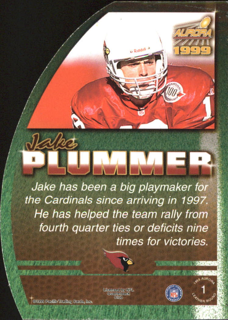 1999 Aurora Leather Bound #1 Jake Plummer back image