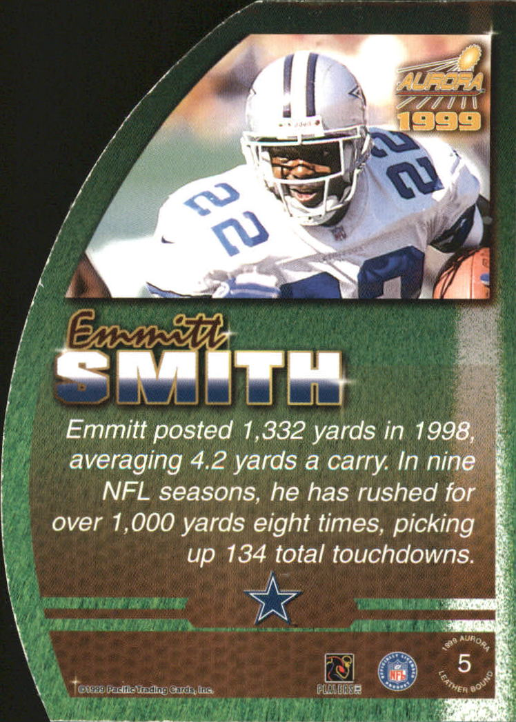 1999 Aurora Leather Bound #5 Emmitt Smith