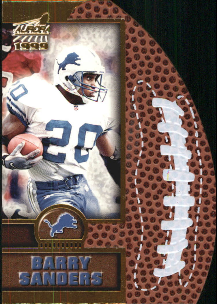 1999 Aurora Leather Bound #7 Barry Sanders