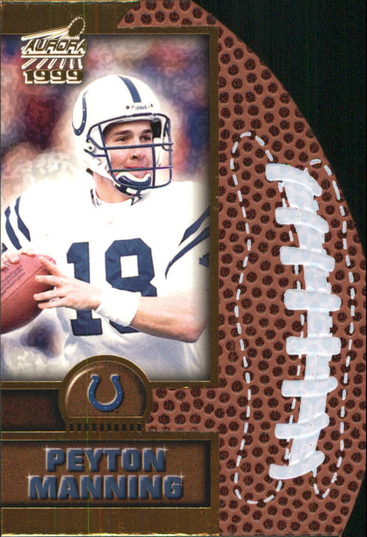1999 Aurora Leather Bound #9 Peyton Manning front image