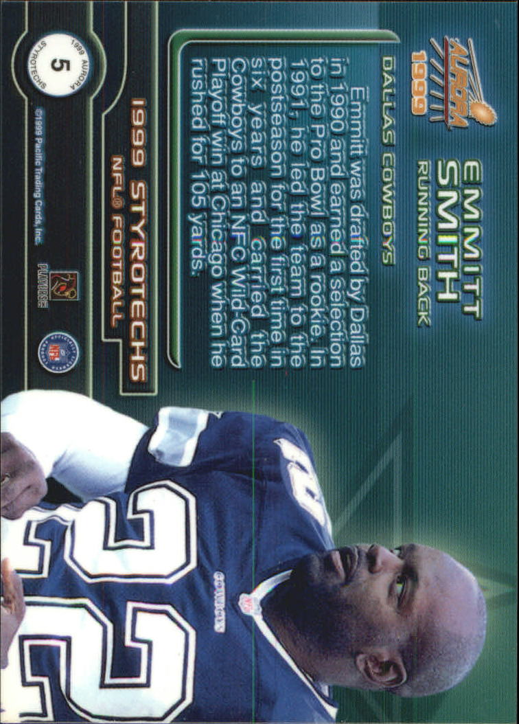 1999 Aurora Styrotechs #5 Emmitt Smith back image