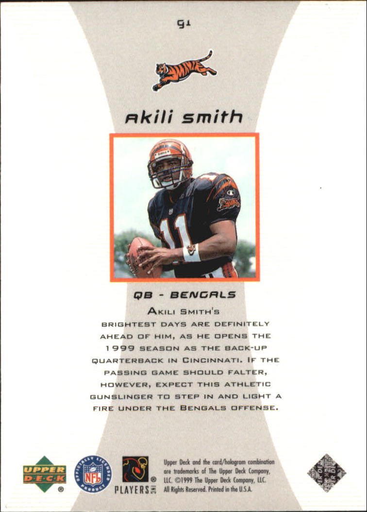 1999 Black Diamond Gallery #G1 Akili Smith back image
