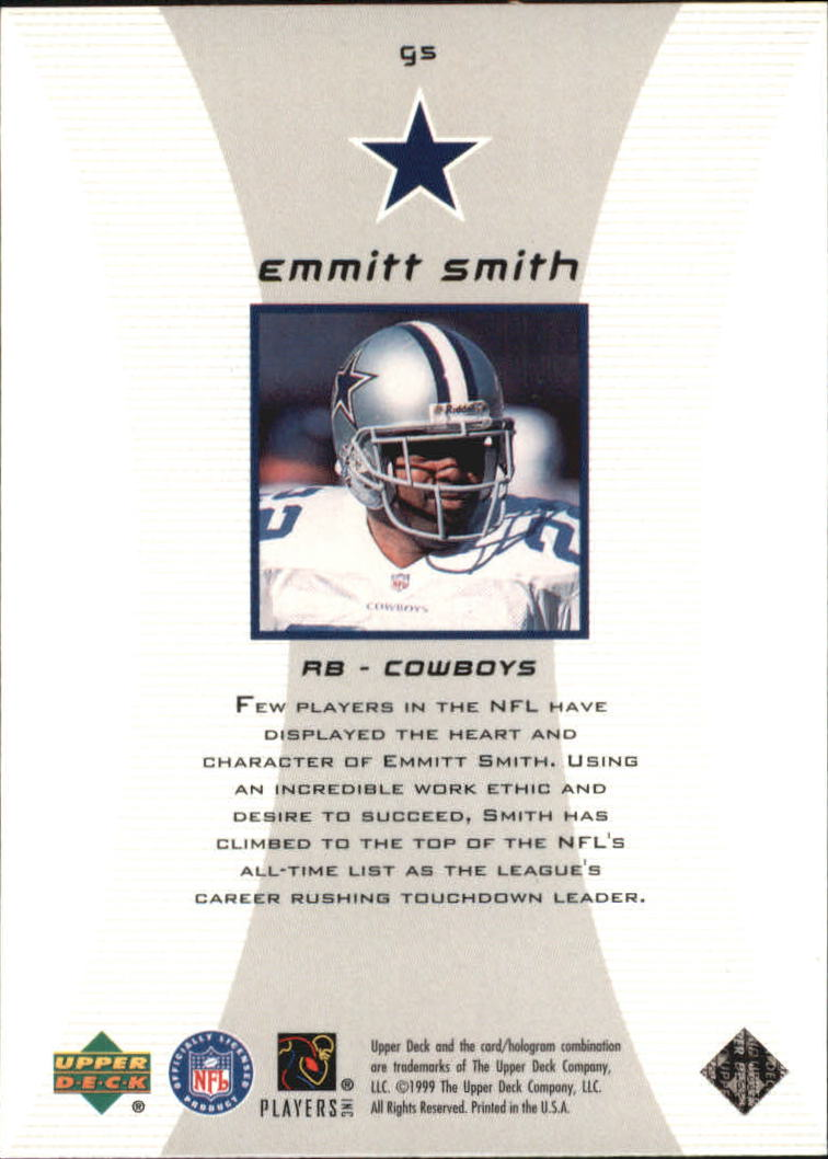 1999 Black Diamond Gallery #G5 Emmitt Smith back image