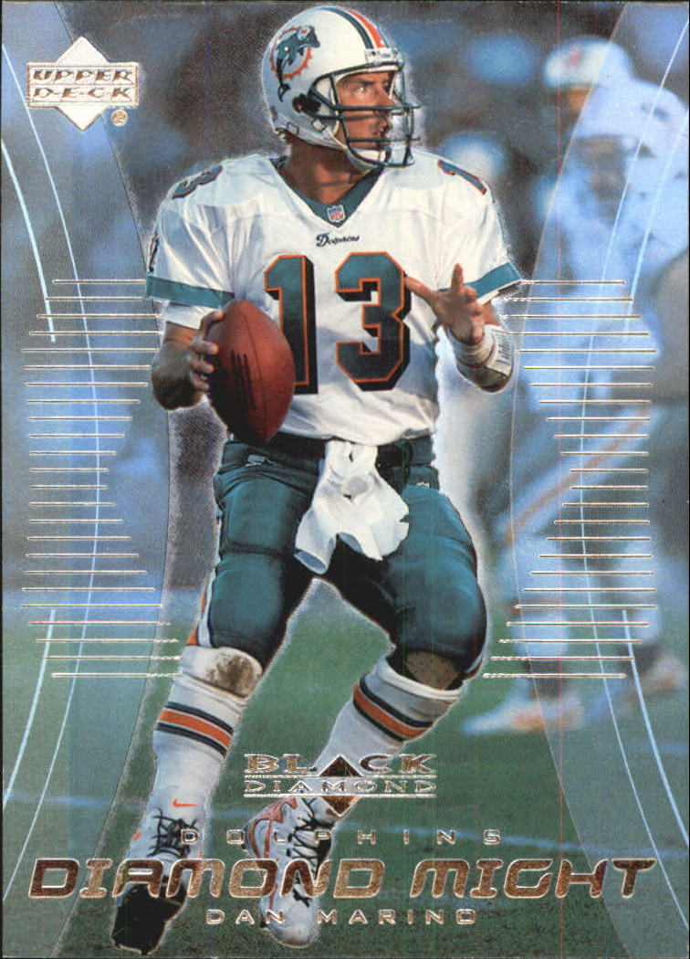 1999 Black Diamond Might #DM4 Dan Marino front image