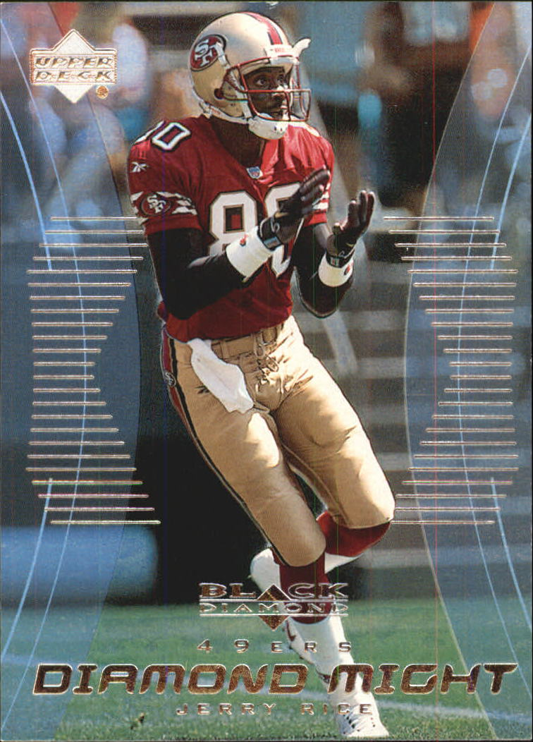 1999 Black Diamond Might #DM7 Jerry Rice front image