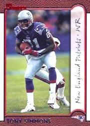 1999 Bowman #52 Tony Simmons