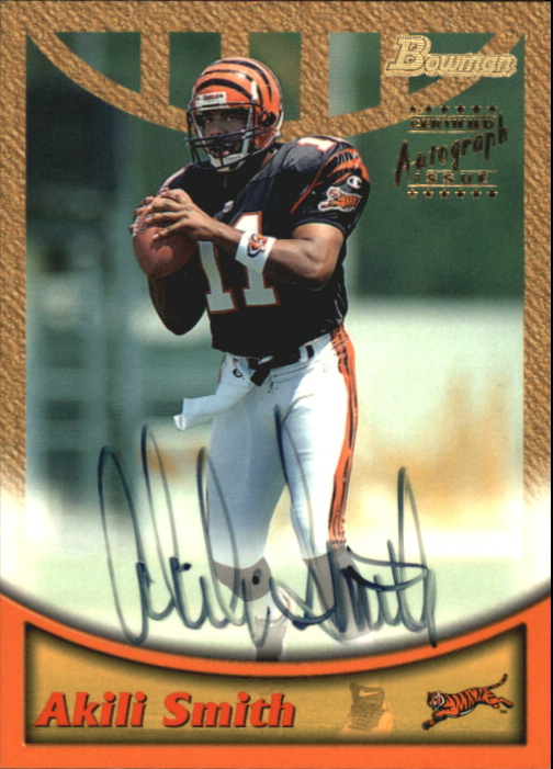 1999 Bowman Autographs #A2 Akili Smith G front image