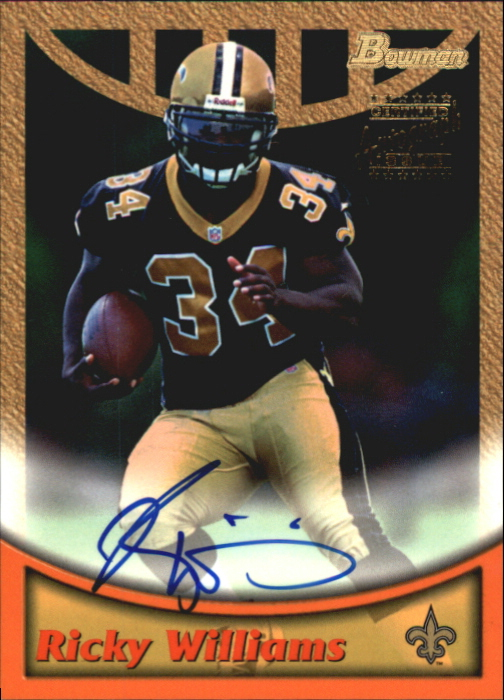 1999 Bowman Autographs #A4 Ricky Williams G