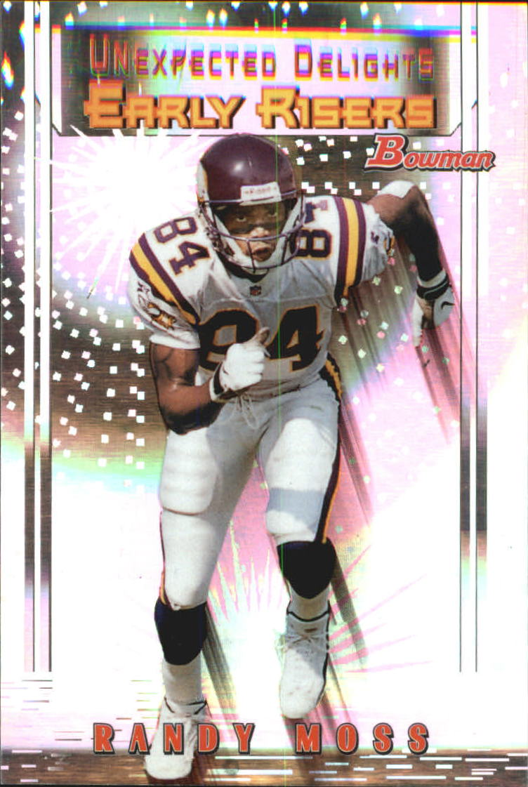 1999 Bowman Late Bloomers/Early Risers #U5 Randy Moss