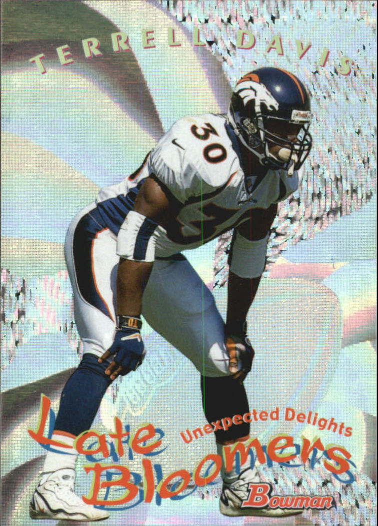 1999 Bowman Late Bloomers/Early Risers #U10 Terrell Davis