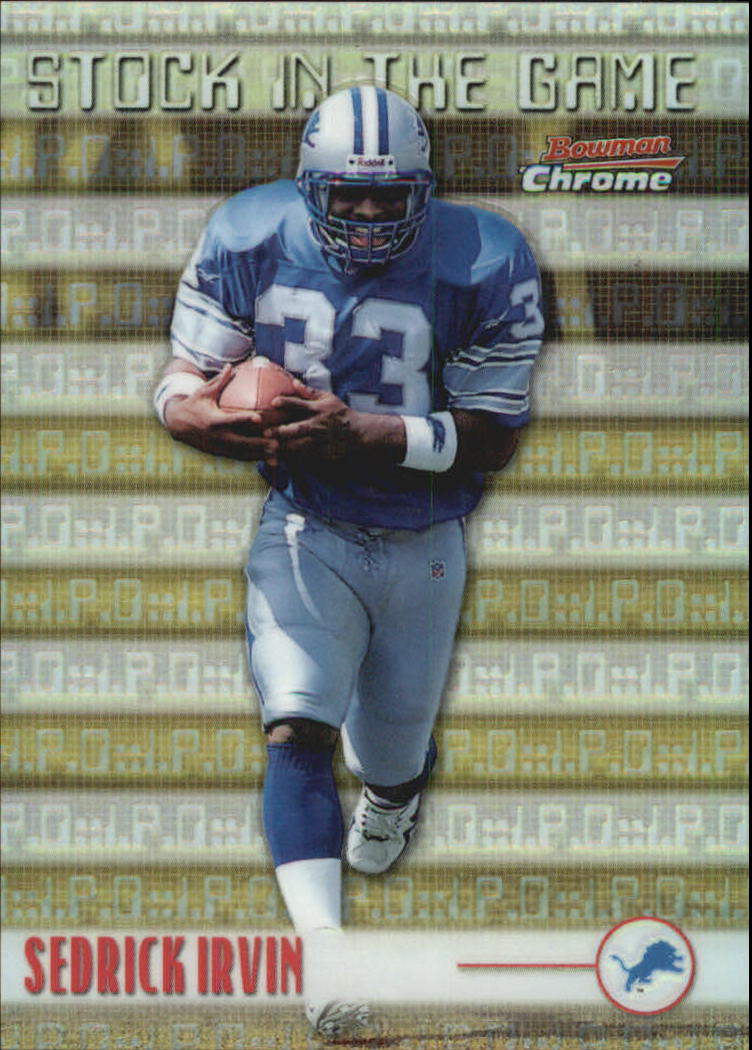 1999 Bowman Chrome Stock in the Game #S3 Sedrick Irvin