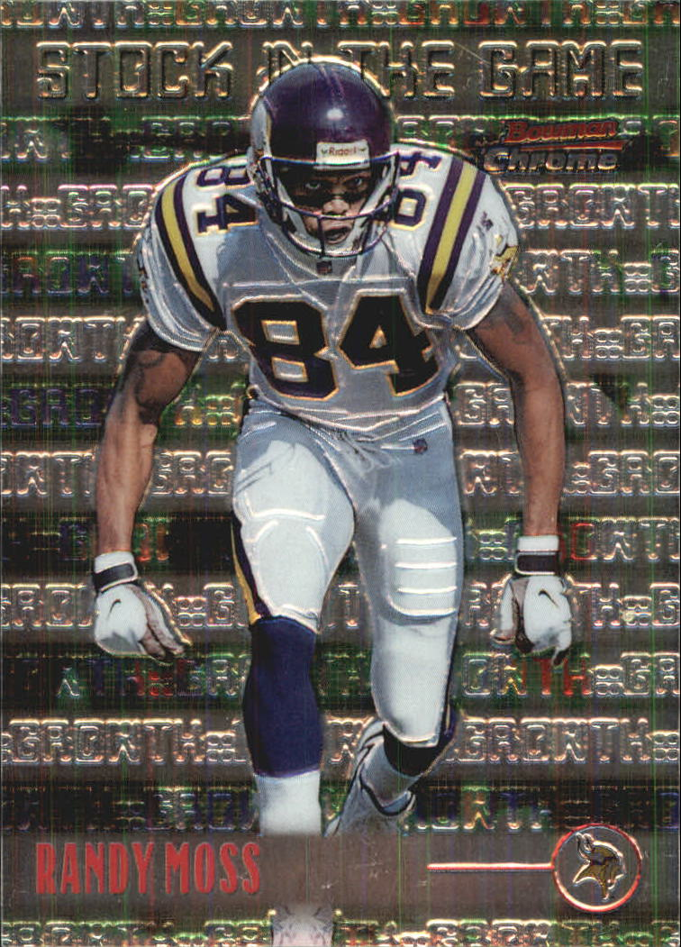 1999 Bowman Chrome Stock in the Game #S7 Randy Moss front image