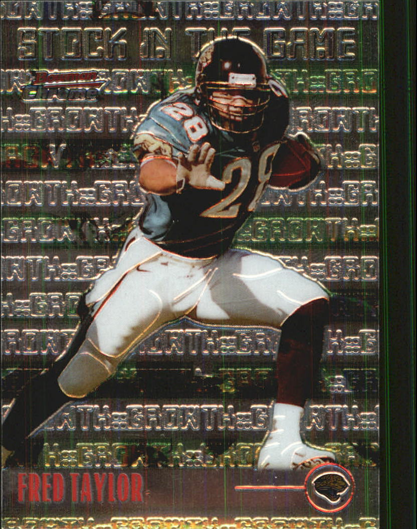 1999 Bowman Chrome Stock in the Game #S10 Fred Taylor