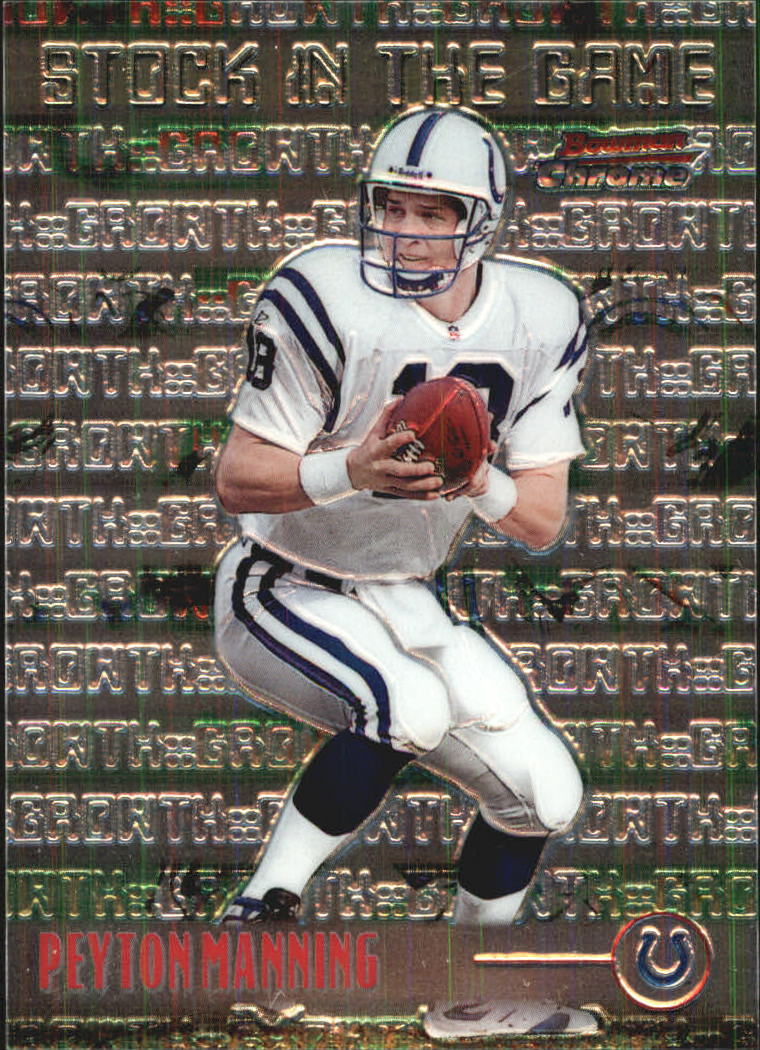 1999 Bowman Chrome Stock in the Game #S12 Peyton Manning front image