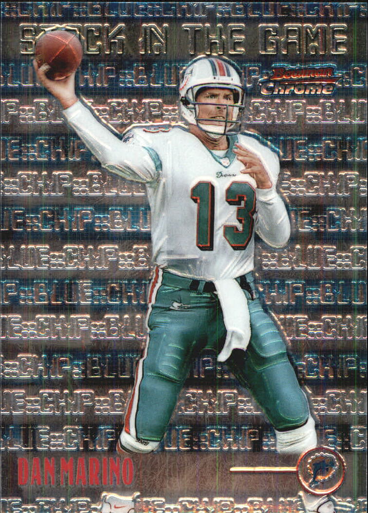 1999 Bowman Chrome Stock in the Game #S13 Dan Marino front image