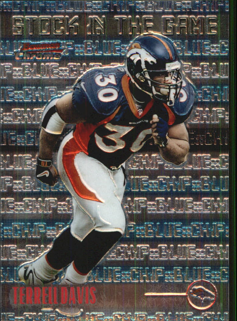 1999 Bowman Chrome Stock in the Game #S14 Terrell Davis