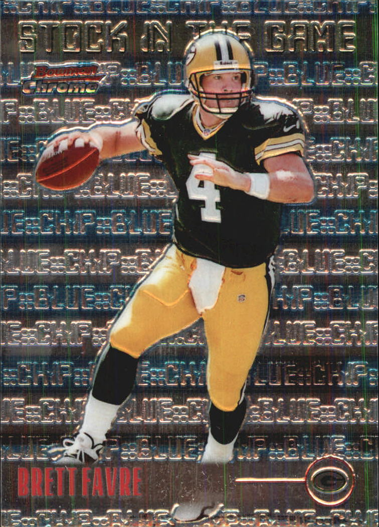 1999 Bowman Chrome Stock in the Game #S15 Brett Favre front image
