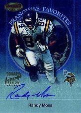 1999 Bowman's Best Franchise Favorites Autographs #FA4 Randy Moss