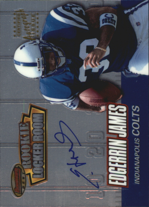 1999 Bowman's Best Rookie Locker Room Autographs #RA3 Edgerrin James