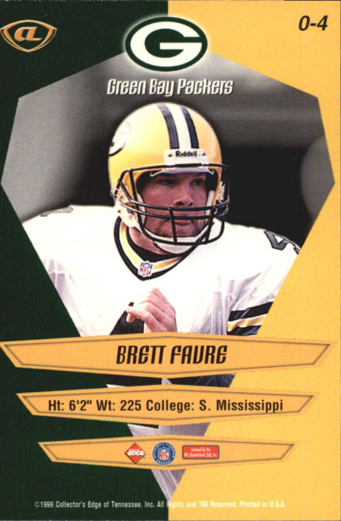 1999 Collector's Edge Advantage Overture #4 Brett Favre back image