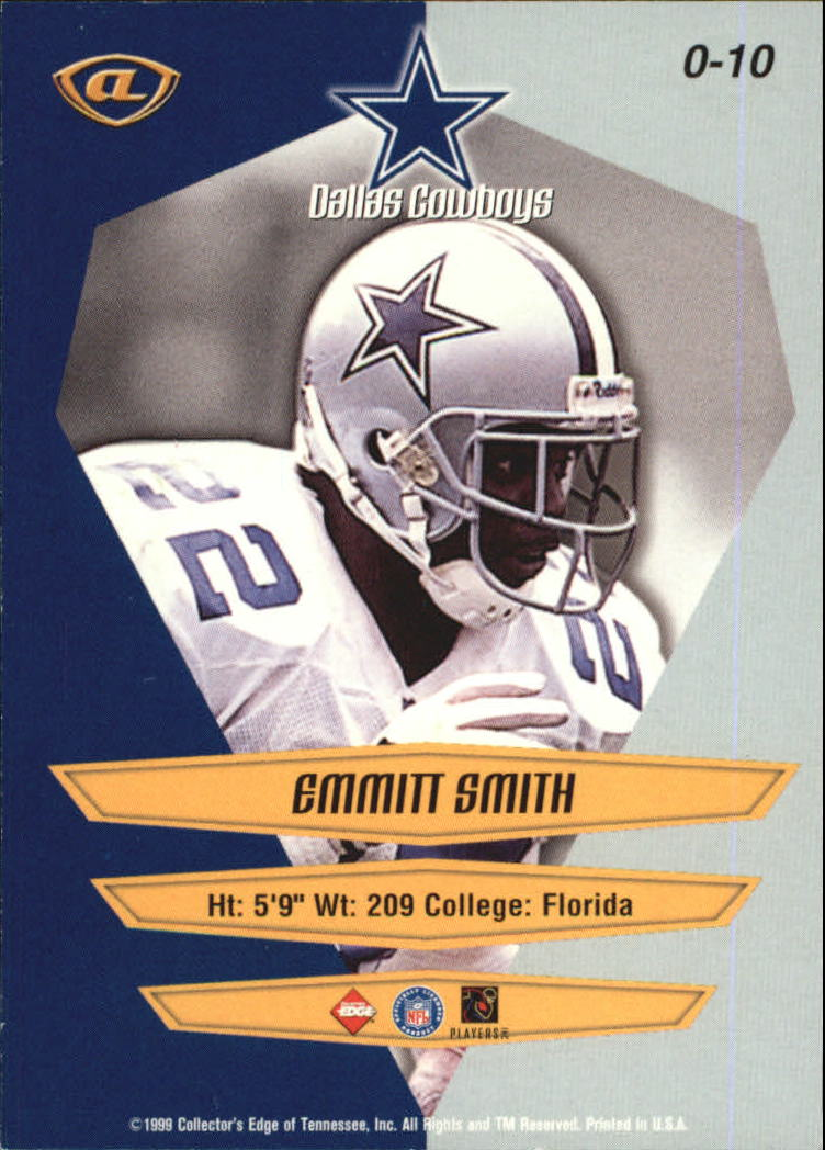 1999 Collector's Edge Advantage Overture #10 Emmitt Smith