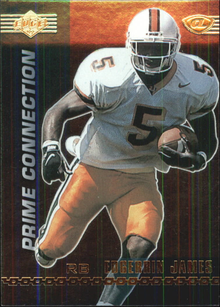 1999 Collector's Edge Advantage Prime Connection #PC15 Edgerrin James front image