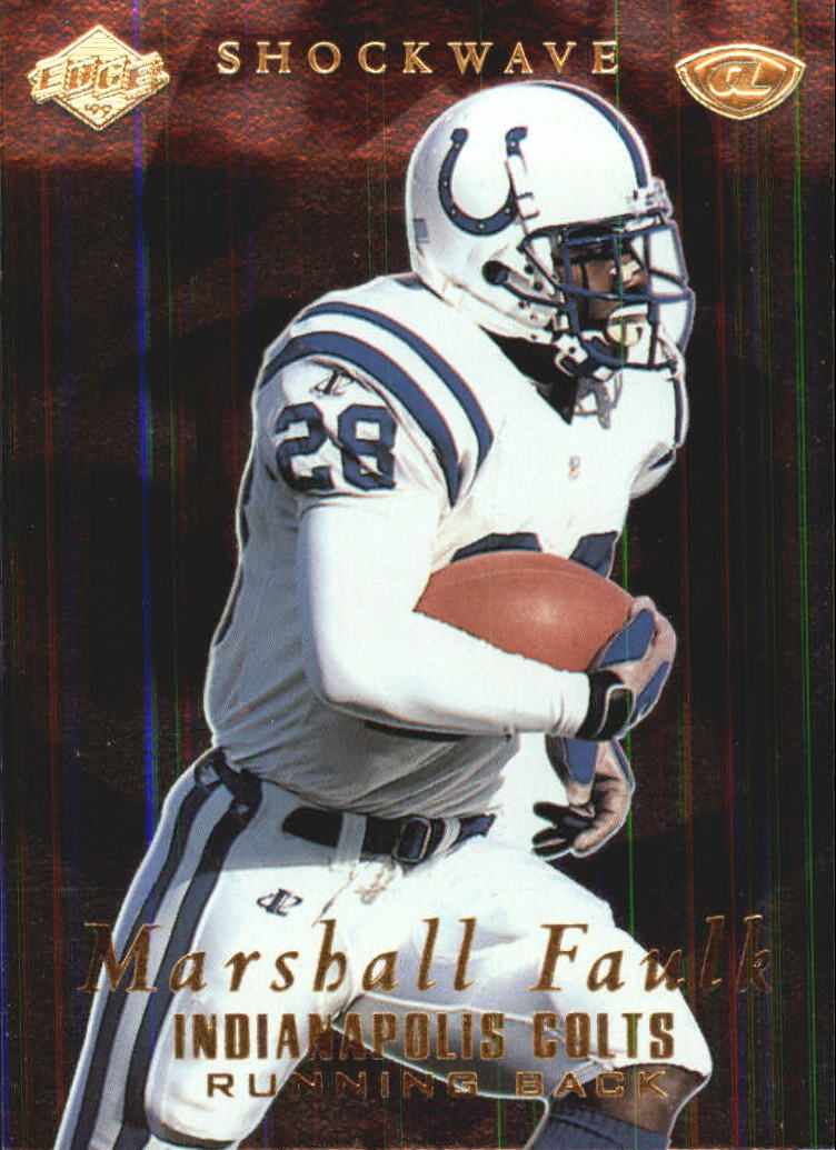 1999 Collector's Edge Advantage Shockwaves #SW6 Marshall Faulk