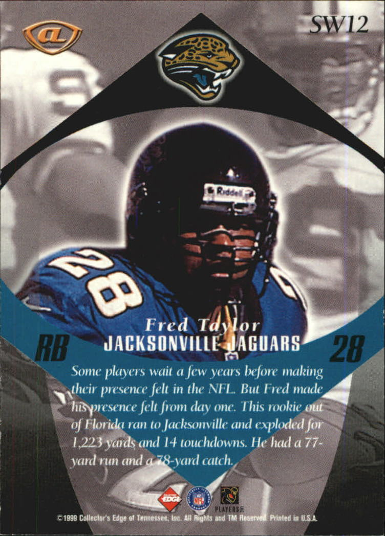 1999 Collector's Edge Advantage Shockwaves #SW12 Fred Taylor back image