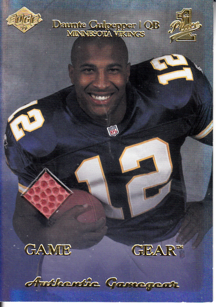 1999 Collector's Edge First Place Rookie Game Gear #RG4 Daunte Culpepper