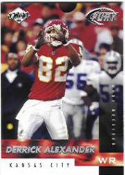 1999 Collector's Edge Fury #5 Derrick Alexander WR