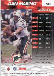 1999 Collector's Edge Fury #90 Dan Marino back image