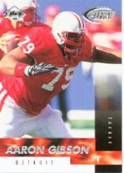 1999 Collector's Edge Fury #168 Aaron Gibson RC